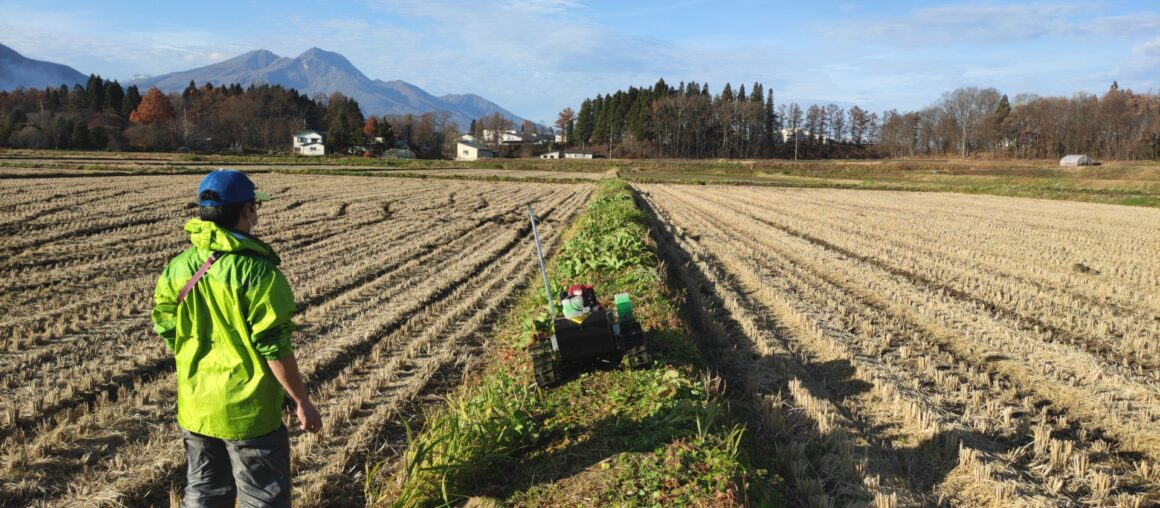 信濃町IoT実装プロジェクト<br> /自動畦畔草刈機 開発(3)